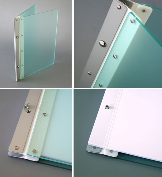 Ice Nine Pro Screwpost Portfolio Cover by Case Envy » 11x14 Portrait » Frosted Green Front and Back with Silver Spine and White Hinge - Click Image to Close