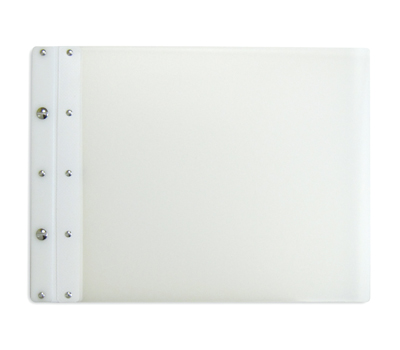 Ice Nine Light Screwpost Portfolio Cover by Case Envy » 11x14 Landscape » Clear Front and Back with White Hinge - Click Image to Close