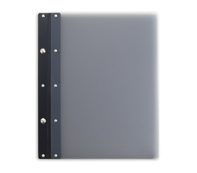 Ice Nine Light Screwpost Portfolio Cover by Case Envy » 8.5x11 Portrait » Grey Front and Back with Black Hinge - Click Image to Close