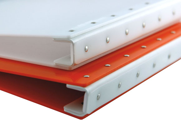 "Presence 3-Ring Binder by Case Envy » .5"" (letter) Portrait » Orange Front and Back with White Hinge - Click Image to Close"