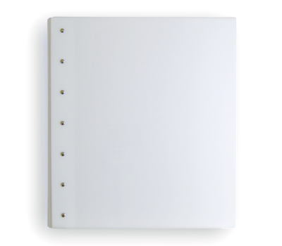 "Presence 3-Ring Binder by Case Envy » 2"" (letter) Portrait » White Front and Back with White Hinge - Click Image to Close"