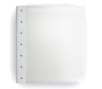 "Presence Light 3-Ring Binder by Case Envy » .5"" (letter) Portrait » Clear Front and Back with White Hinge - Click Image to Close"