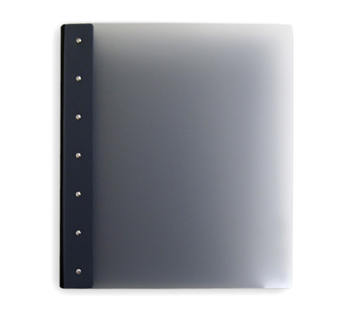 "Presence Light 3-Ring Binder by Case Envy » 1"" (letter) Portrait » Grey Front and Back with Black Hinge - Click Image to Close"