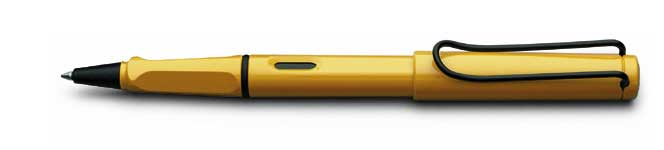 Safari Rollerball Pen by Lamy » Yellow - Click Image to Close