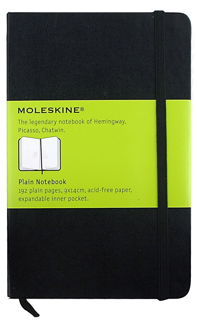 Reporter Notebook Plain by Moleskine » Pocket » Black - Click Image to Close