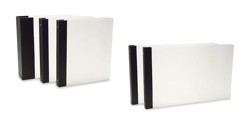 "Vista 3-Ring Binder by Pina Zangaro » .5"" (tabloid) Landscape » Translucent - Click Image to Close"