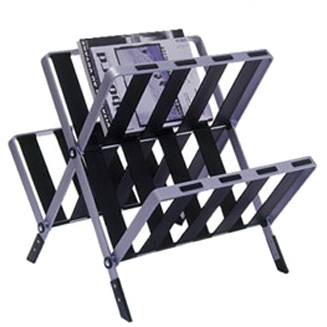 News Folding Magazine Rack by Rexite » Black - Click Image to Close