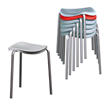 Well Stackable Stool by Rexite » Green Top (Light Blue Bottom) - Click Image to Close
