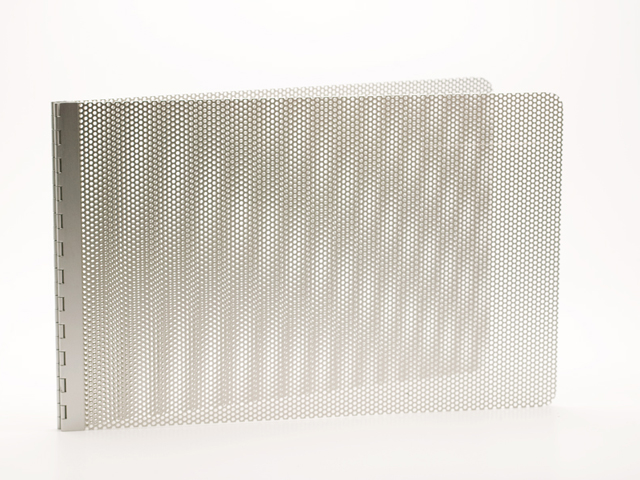 Handmade Perforated Screwpost Portfolio Cover by Shrapnel Design � 11x17 Landscape � Natural Anodized Aluminum - Click Image to Close