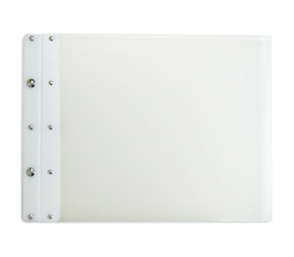 Ice Nine Light Screwpost Portfolio Cover by Case Envy » 11x14 Landscape » Clear Front and Back with White Hinge
