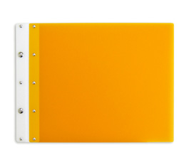 Ice Nine Light Screwpost Portfolio Cover by Case Envy » 11x17 Landscape » Orange Front and Back with White Hinge