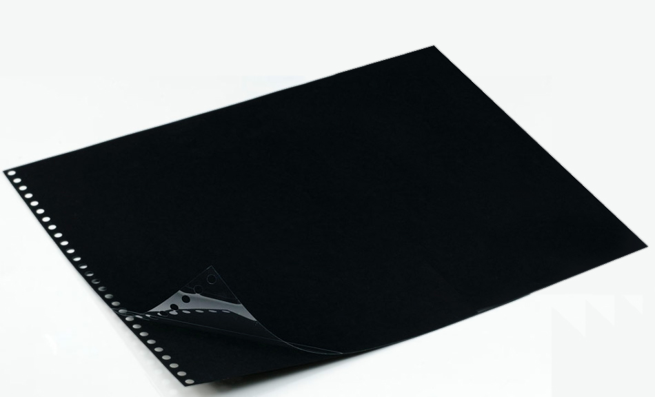 Polyester Sheet Protectors Portfolio Refill by Case Envy » 11x14 Landscape » Black Paper, Glossy Clear