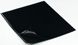 Polyester Sheet Protectors Portfolio Refill by Case Envy » 8.5x11 Portrait » Black Paper, Glossy Clear