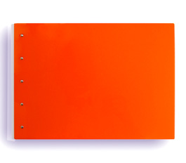 "Presence 3-Ring Binder by Case Envy » 1"" (letter) Landscape » Orange Front and Back with White Hinge"