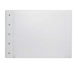 "Presence 3-Ring Binder by Case Envy » .5"" (letter) Landscape » Frosted Clear Front and White Back with White Hinge"