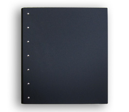 "Presence 3-Ring Binder by Case Envy » 2"" (letter) Portrait » Black Front and Back with Black Hinge"