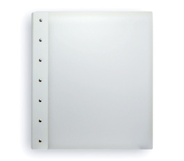 "Presence 3-Ring Binder by Case Envy � 2"" (letter) Portrait � Frosted Clear Front and White Back with White Hinge"