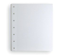 "Presence 3-Ring Binder by Case Envy » 2"" (letter) Portrait » White Front and Back with White Hinge"