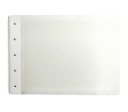 "Presence Light 3-Ring Binder by Case Envy » 1"" (tabloid) Landscape » Clear Front and Back with White Hinge"