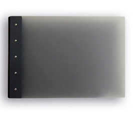 "Presence Light 3-Ring Binder by Case Envy » 1"" (tabloid) Landscape » Grey Front and Back with Black Hinge"