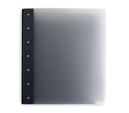 "Presence Light 3-Ring Binder by Case Envy » .5"" (letter) Portrait » Grey Front and Back with Black Hinge"
