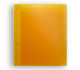 "Presence Light 3-Ring Binder by Case Envy » .5"" (letter) Portrait » Orange Front and Back with White Hinge"