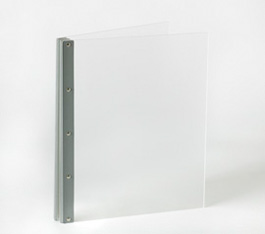 Looking Glass Screwpost Portfolio Cover by Lost Luggage » 11x14 Portrait » Frosted Clear Acrylic with Silver Hinge