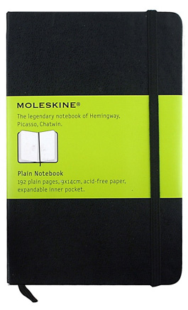 Reporter Notebook Plain by Moleskine » Pocket » Black