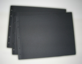 Black Scored Portfolio Refill by NEU » 11x14 Portrait » Black