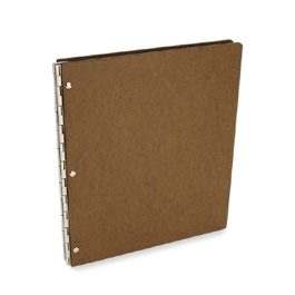 Tera Screwpost Portfolio Cover by Pina Zangaro » A4 Portrait » Natural (Brown)