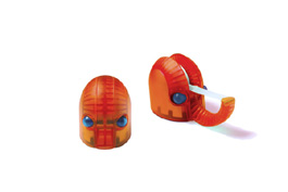 Hannibal Tape Dispenser by Rexite » Translucent Orange