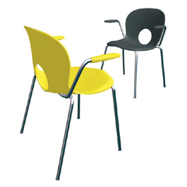 Olivia Stackable Armchair by Rexite » Yellow