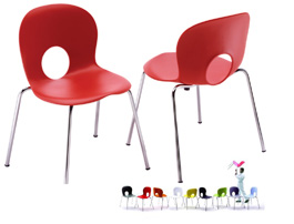 Olivia Stackable Chair by Rexite » Red