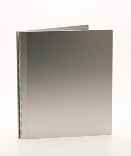 Handmade Double Thick Screwpost Portfolio Cover by Shrapnel Design » 8.5x11 Portrait » Natural Anodized Aluminum