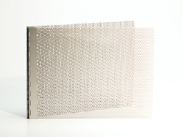 Handmade Perforated Screwpost Portfolio Cover by Shrapnel Design » 8.5x11 Landscape » Natural Anodized Aluminum