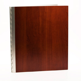 Handmade Wood Look Screwpost Portfolio Cover by Shrapnel Design » 11x14 Portrait » Cherry