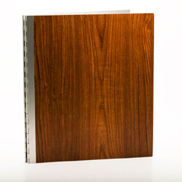 Handmade Wood Look Screwpost Portfolio Cover by Shrapnel Design » 11x14 Portrait » Teak