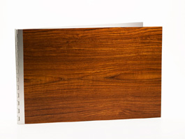 Handmade Wood Look Screwpost Portfolio Cover by Shrapnel Design » 11x17 Landscape » Teak
