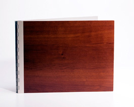 Handmade Wood Look Screwpost Portfolio Cover by Shrapnel Design » 8.5x11 Landscape » Cherry