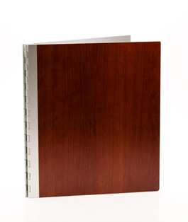 Handmade Wood Look Screwpost Portfolio Cover by Shrapnel Design » 8.5x11 Portrait » Cherry