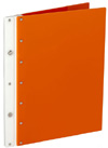 Ice Nine Screwpost Portfolio Cover by Case Envy » 8.5x11 Portrait » Orange Front and Back with White Hinge