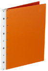 Ice Nine Screwpost Portfolio Cover by Case Envy » 11x14 Portrait » Orange Front and Back with White Hinge