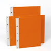 Ice Nine Screwpost Portfolio Cover by Case Envy » 11x17 Landscape » Orange Front and Back with White Hinge