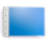 "Presence 3-Ring Binder by Case Envy » 1"" (letter) Landscape » Frosted Clear Front and Blue Back with White Hinge"