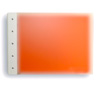 "Presence 3-Ring Binder by Case Envy » 1"" (letter) Landscape » Frosted Clear Front and Orange Back with White Hinge"