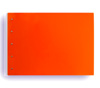 "Presence 3-Ring Binder by Case Envy » .5"" (letter) Landscape » Orange Front and Back with White Hinge"