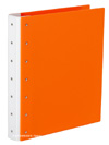 "Presence 3-Ring Binder by Case Envy » .5"" (tabloid) Landscape » Orange Front and Back with White Hinge"