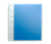 "Presence 3-Ring Binder by Case Envy » 2"" (letter) Portrait » Frosted Clear Front and Blue Back with White Hinge"