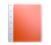 "Presence 3-Ring Binder by Case Envy » 2"" (letter) Portrait » Frosted Clear Front and Orange Back with White Hinge"