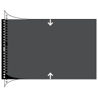 Polyester Sheet Protectors Binder Refill by Pina Zangaro » 8.5x11 Landscape » Black Paper, Glossy Clear